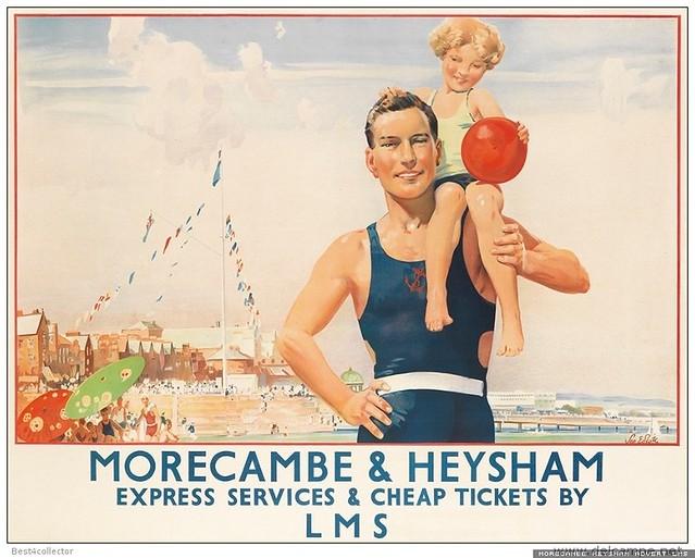 Morecambe Heysham advert LMS