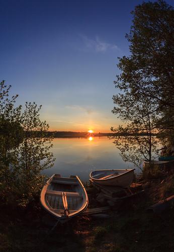 sunset sun lake espoo landscape prime boat sundown fisheye 15mm kesä vene järvi auringonlasku aurinko pitkäjärvi laaksolahti