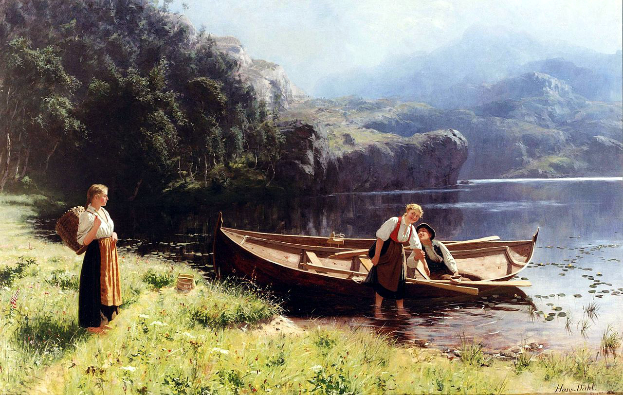 By the Water's Edge by Hans Dahl, 1880