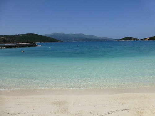 A beach at Ksamil village