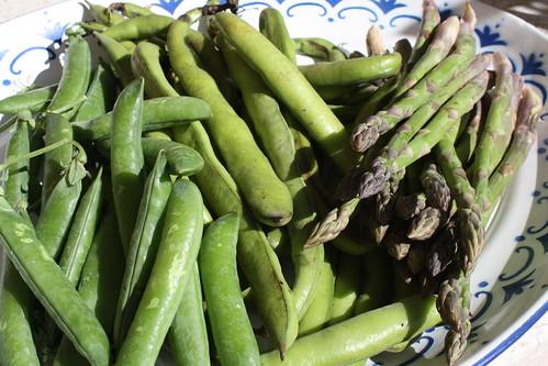 Peas, broad beans & asparagus