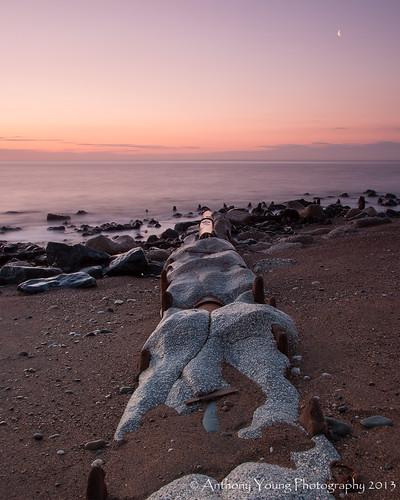 seascape sunrise pipe seaham countydurham canon400d durhamcoast chemicalbeach sigmaaf1770mmf2845dcmacro