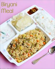 biryani, curd rice