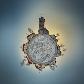 little planet Neustrelitz @ sunrise