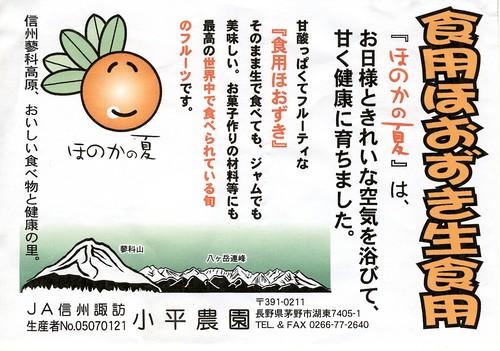 食用ほうずき・ほのかの夏/チラシ 2013年 by Poran111