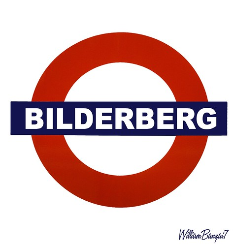 BILDERBERG TUBE SIGN by WilliamBanzai7/Colonel Flick