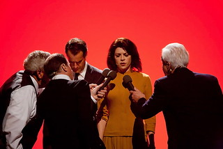L.A. Theatre Works 艾米·皮茨在2011年的《绝密:五角大楼文件之战》中饰演凯瑟琳·格拉厄姆。