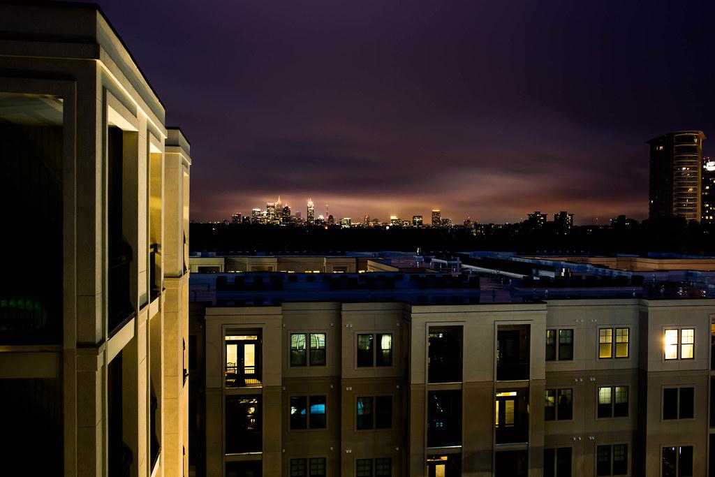 Atlanta Storm Lightning AT&T Building