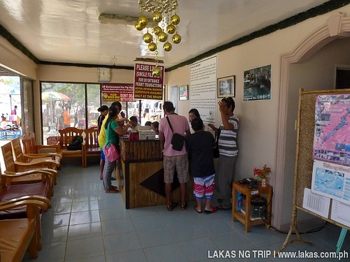 Inside the Tourism Office in Sabang, Puerto Princesa City