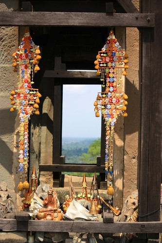 shrines around a temple at the highest point