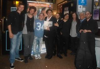 A la salida del concierto ellos se encontraban tan satisfechos como nosotros...