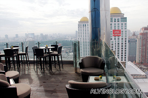 View from the outdoor area in the executive lounge