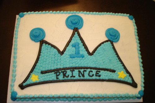 Baby Boy's 1st Birthday Cake