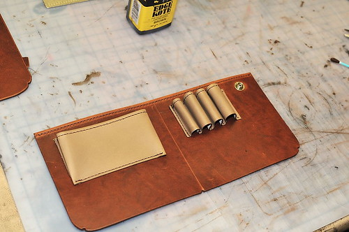 Custom Mitchell Briefcase: Completed front inside panel
