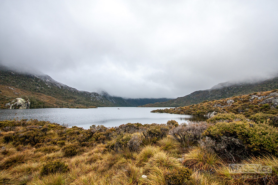 How lucky we were to have blue skies on day one at Cradle Mountain.