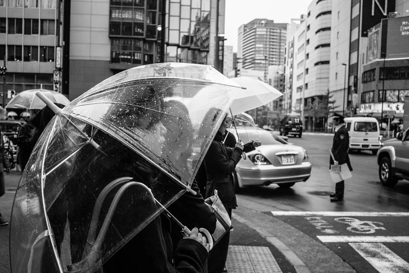 I was most fascinated with the transparent umbrellas of Japan during rainy days.