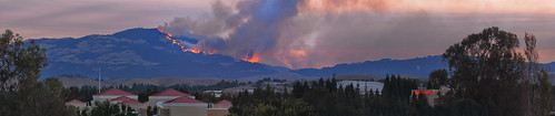 california park summer color sunrise fire nikon sanramon smoke large panoramic september burning burn eastbay forestfire d200 mtdiablo northern stitched slope ablaze 2013 morganhillfire mtdiablofire