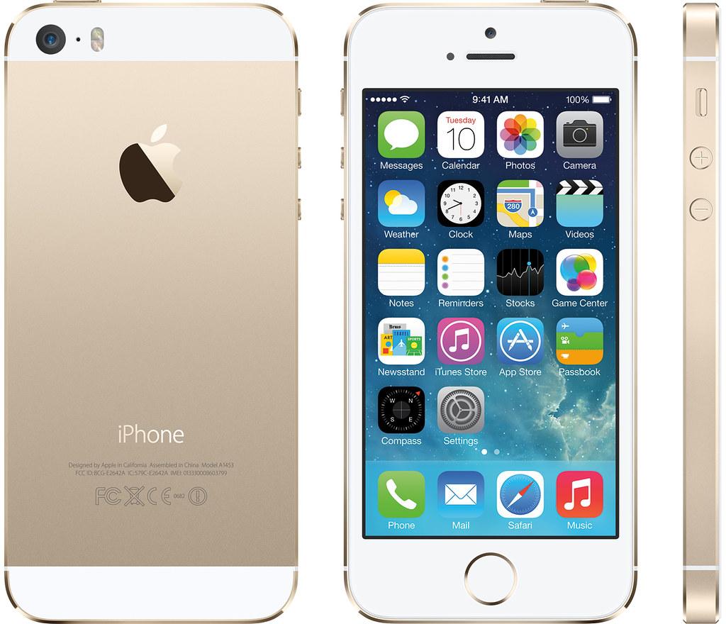 iPhone 5s 実物大の製品画像