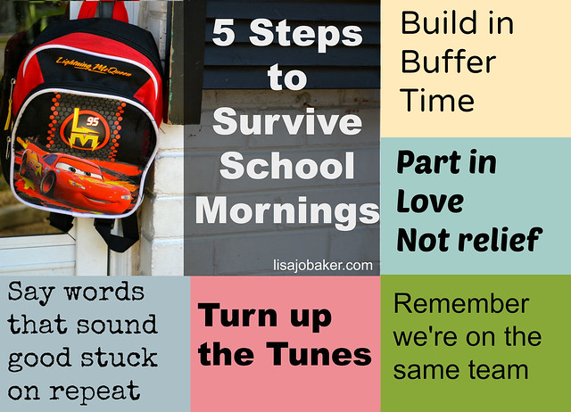 5 steps to survive school mornings