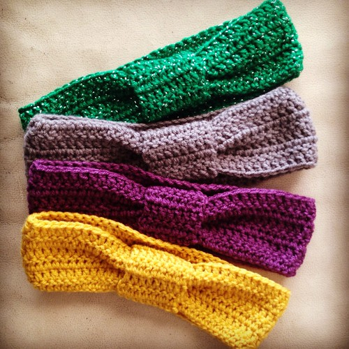 Crochet Knotted Ear warmers