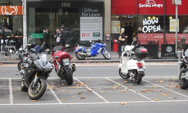 Motorbike parking, Queen Street