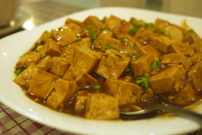 """Red Cooked"" Tofu (????) @ Long's Chinese Food"