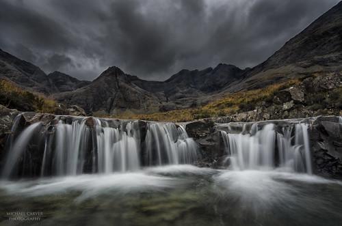 longexposure skye rain clouds landscape scotland waterfall highlands scottish cuillins glenbrittle fairypools scotishlandscapes