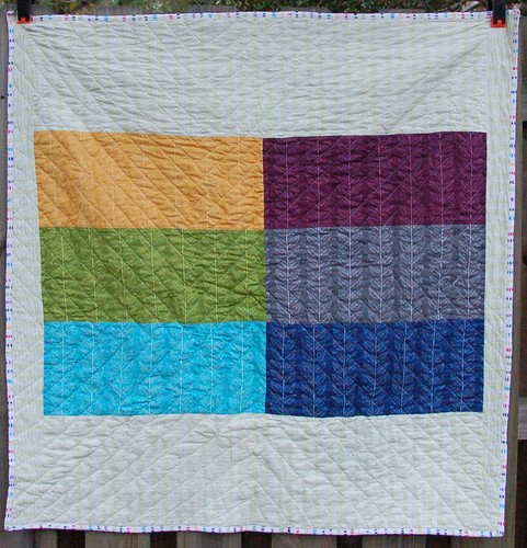 Rainbow Braid Quilt Back
