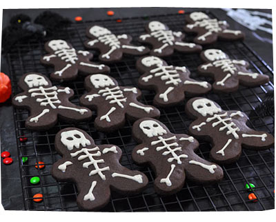 Halloween Skeleton Biscuits