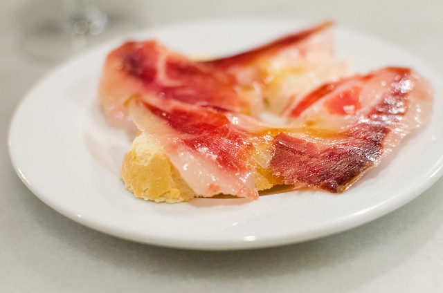 A tapa of Jamón at Las Teresas in Sevilla, Spain.