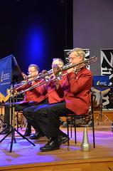Brassbandfestivalen 2013 - Söderkårens trombonsektion (Foto: Olof Forsberg)