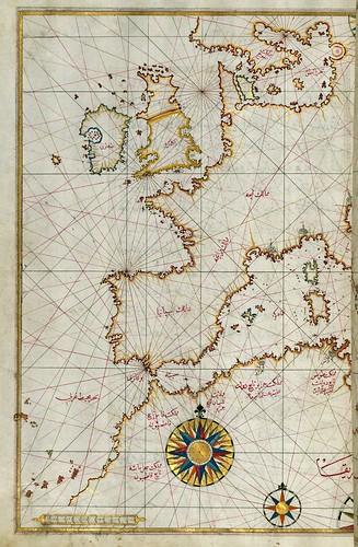 017-Oeste de Europa y Africa del norte-fol 64a-W.658, LIBRO DE NAVEGACIÓN -The Digital Walters