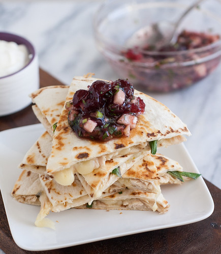 Leftover Turkey Jack Quesadillas with Cranberry Salsa | Tracey's ...