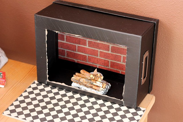 Build a fireplace for your 18 inch doll American Girl