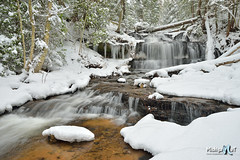Winter at Wagner Falls Munising, Michigan by Michigan Nut