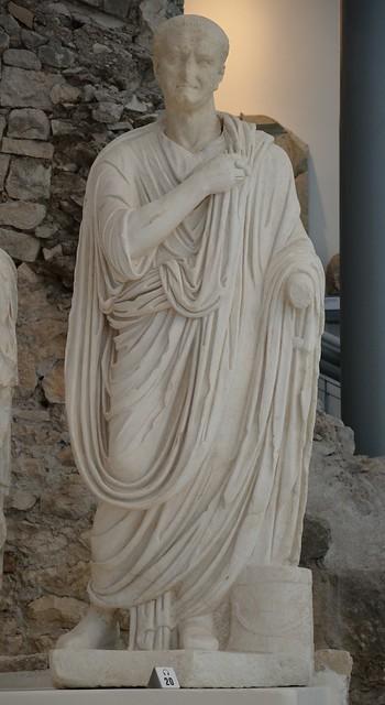 Statue of Vespasian, Archaeological museum Narona, Vid, Croatia