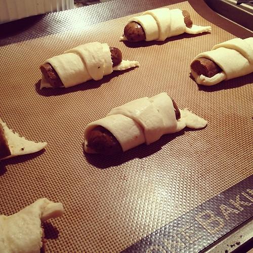 Vegan sausage rolls...pre-baked #vegannewyears
