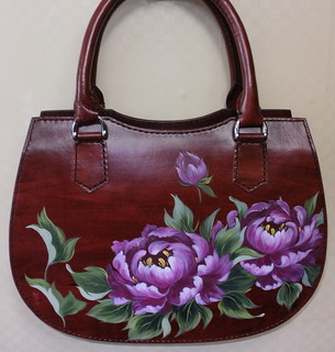 (Leather craft-Oriental Painting Bag)