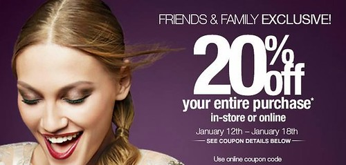 ulta friends family sale 20% 20 % discount code coupon