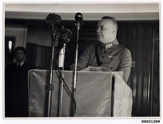 Major-General Ter Poorten on board TSS ORANJE II