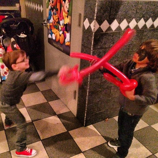Drake & Elijah going at it.