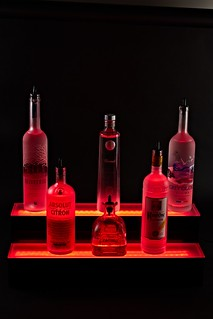 2 Step Multicolored LED Bottle Display 04 | Armana Productions - Liquor Shelves