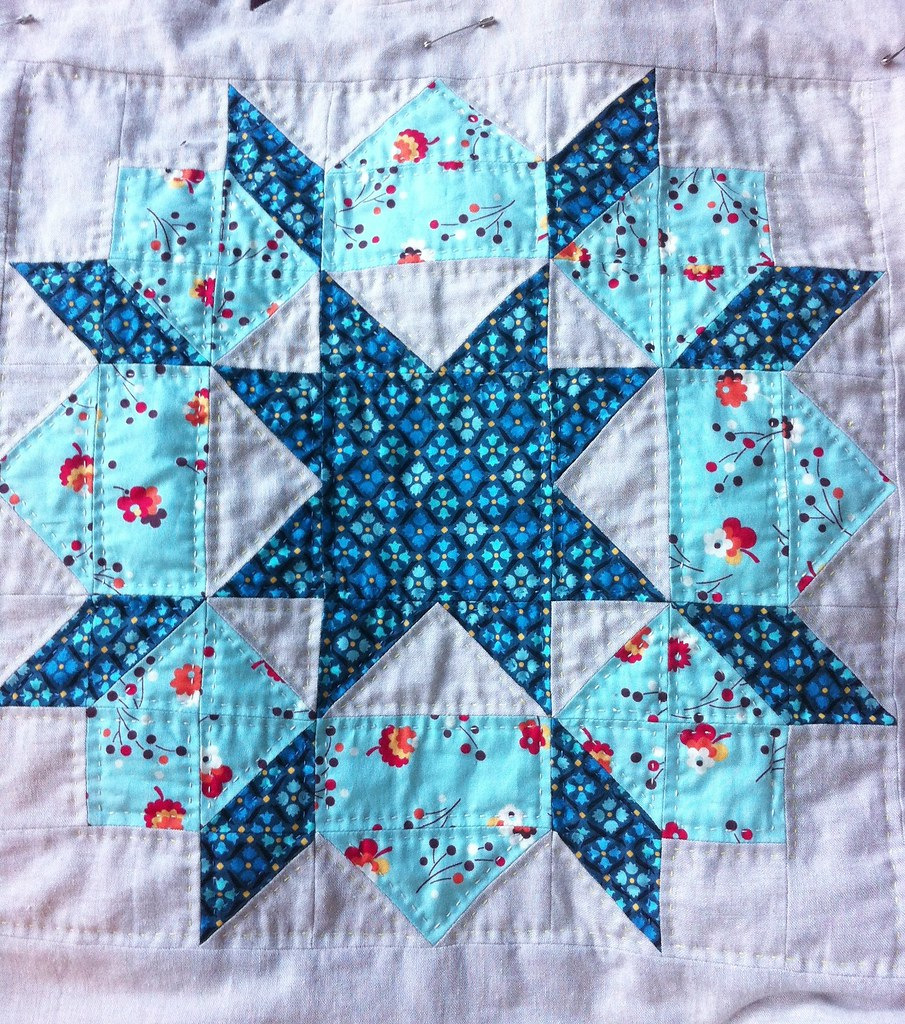 Swoon Quilt Block 3, Quilted