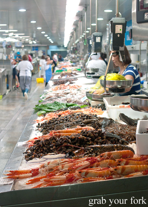 Plaza de Lugo Fish Market in A Coruna, Galicia, Spain
