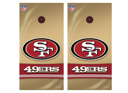 San Francisco 49ers Cornhole Game Decal Set