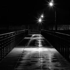 La passerelle du barrage