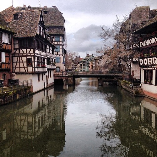 Peering down the canal, La Petite France - Strasbourg, France
