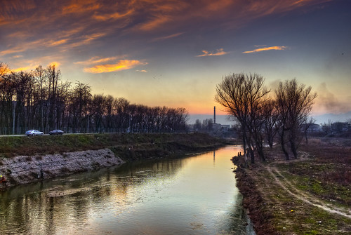 road blue winter sunset summer sky reflection tree nature beautiful weather clouds river way relax landscape town fly colorful day factory seasons view path no burning bulgaria burn photograph frame hdr mariana limits lamborgini fishmen yambol parkeurope tundhza