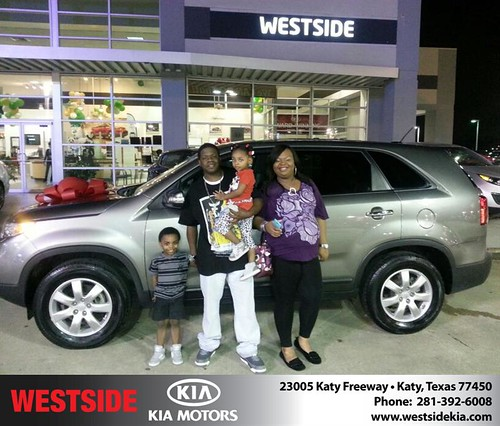 Thank you to Shanedra Taylor on your new 2011 #Kia #Sorento from Rubel Chowdhury and everyone at Westside Kia! #NewCar by Westside KIA