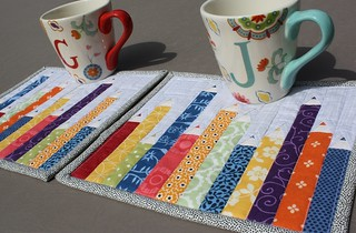 Teacher Gifts 2014 Mug Rug colored pencils